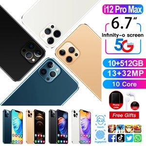 6.7 بوصة الهاتف الذكي ملء الشاشة، بطاقة SIM المزدوجة، 13MP 32MP كاميرا، 12 جيجابايت + 512GB، ودعم التعرف على بصمات الوجه الوجه، ومعالج 10 نواة عالية الأداء