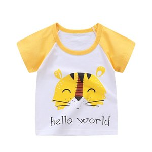 Children Tops Kids Clothes Girls Cotton T Shirts for Boys Short Sleeve Summer T-shirts Beach Clothes Little Girls Clothing 1068 V2