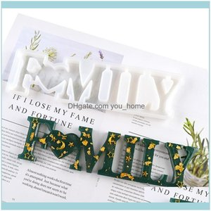 Arts, Crafts Gifts Home & Gardenfashion English Word Diy Hand Crystal Mold Letter Love Sile Molds Handicraft Craft Tools Drop Delivery 2021