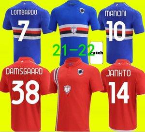 21 22 UC Sampdoria soccer jerseys QUAGLIARELLA MANCINI 2021 2022 home DAMSGAARD VIALLI LOMBARDO GASTON CANDREVA Football Shirt JANKTO Mens Jersey