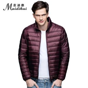 Men's Clothing New Korean Style Lightweight Men's Down Jacket For Autumn And Winter, Stand-up Collar Plus Size Short Casual Jacket