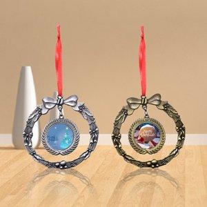 Easter Halloween Christmas Decorative Pendant Garland Pendant DIY Blank Heat Transfer Car Pendant Sublimation Metal Ornament with Blank Aluminum Sheet