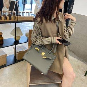 Женская сумка 2021 новая мода Tinware серая кожаная платиновая сумка большой емкостью