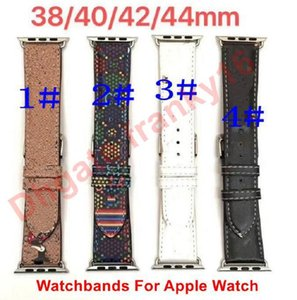 Designer Watch Bands For Apple Watches G Letters Version Leather Straps 38mm 40mm 42mm 44mm iWatch Strap 4 Styles