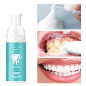 Tooth Whitening Cleaning Mousse Remove Plaque Stains Oral Odor Fresh breath Bright Teeth Toothpaste Dental Care Tool 60g