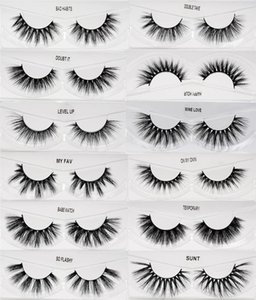 Faux 3D Mink Eyelashes Natural Wispy Soft Eyelash Extension Cruelty Free Curl Cross Long Thick False Lashes Makeup Kit