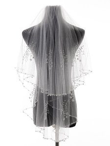 Bridal Veils Arrival Bead Edge Wedding Accessories Tulle Veil With Comb