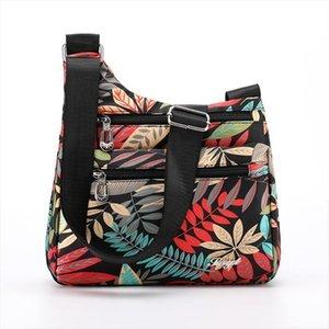 Fashion Cartoon Print Women Female Cosmetic Bag High Quality Light Nylon Cross Body Multi Pockets Messenger For