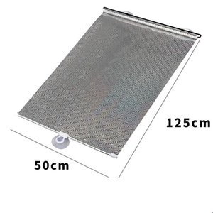 Summer Windshield Sunshade Retractable Car Window Sun Shade Automatic Auto Visor Front Windshield Uv Protect Cover 1141 V2