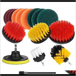 Toilet Brushes Holders 16Pcsset Drill Scrubber Cleaning Brush Kit For Bathroom Surfaces Tub Tile And Grout Dm8Sl Sa9Zf