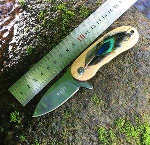 2021 HW242 Cuchillo de acero inoxidable Cuchillo multifuncional de autodefensa Equipo de supervivencia de campo Artículos al aire libre Mini llave Cuchillos plegables