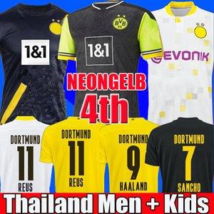 Thaïlande BVB 20 21 maillot de football Borussia dortmund HAALAND REUS2020 2021 maillots de football BELLINGHAM SANCHO HUMMELS BRANDT kit hommes + enfants