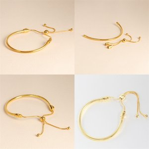 18K Yellow Gold plated Bracelets Hand rope for Pandora 925 Sterling Silver Bracelet for Women With Original Gift 58 M2