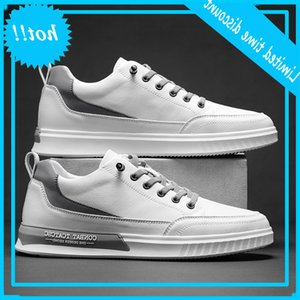 leather breathable small white sports leisure driving board Korean spring new Men's fashion shoes