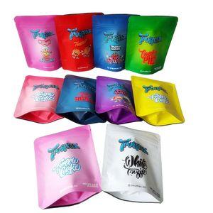화이트 트러프 스코 티 빈 티플 가방 3.5g Resealable Mylar 냄새가 높은 패키지 포장 10 종류