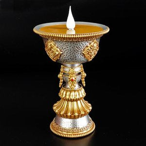 Tibetan Simulated Electronic Butter Lamp Usb-powered Smokeless And Fireless Environment-friendly LED For Buddhist Wall Clocks