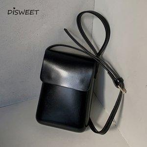 Solid Simple PU Mens Crossbody Bag Korean Black Casual Shoulder Bag Man 2021