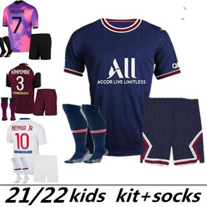 2022 2021 MBAPPE Kids Soccer Jerseys Verratti Maillot deleva 22 20 21 Sarabia Cavani di Maria Survedeement Child Youth Football Camicia