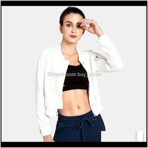 Vestes Portez des vêtements de plein air athlétique Vêtements à l'extérieur Livraison 2021 Button Fermeture à glissière Femme Femme Fitness Cardigan Jacket Court Sports Formation