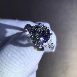 Cluster Rings S925 Sterling Silve Ring Classic Moissanite Diamond Passed Test D Color VVS1 Women's Wedding Engagement Jewelry Luxury