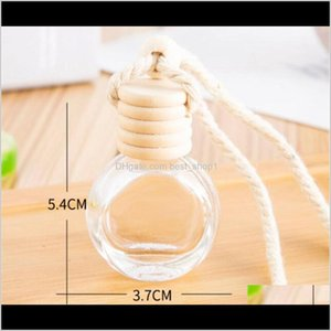 Diffusers Fragrances Décor Home Garden Drop Delivery 2021 Empty Car Pendant Per Ornament Air Freshener Essential Oils Diffuser Fragrance Glas