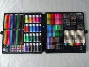 258 Painting Set Super Child Painting Stationery Art Brush Crayon Oily Watercolor Pen Set Palette Dry Powder Pencil lz0497