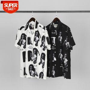 WACKO MARIA co-branded Bob Marley Hawaiian shirt short sleeve Shawn Yue the same paragraph #b62k