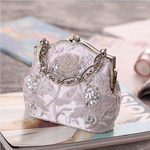 خمر الحرير المطرزة عشاء حقيبة الكلاسيكية شيونغسام حقيبة الأزياء مطرز اليد الحرفية اللباس مطابقة 1