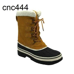 Hot Sell Anti-slip Soft Classic Felt Lined Warm Women Men Leather Waterproof Snow Hunting Boots Winter Bean Duck Boot