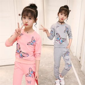 Girls Clothing Sets Autumn Winter Kids Long Sleeve Sweatshirts+Pants Suit Girl Outewear Children Clothes Set 5 7 8 9 10 12 Years 0926