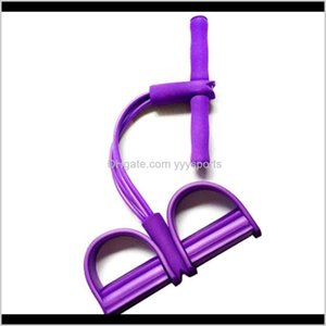Fitness Gum 4 Tube Resistance Latex Pedal Exerciser Situp Pull Rope Expander Elastic Bands Yoga Equipment Pilates Workout Ddhwb W2Tth