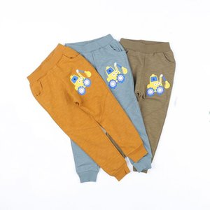Trousers BBD Toddler Pants Boys Cotton Spring Summer Elastic Waist Cartoon Sweatpants Kids 2 - 6 Years High Quality Clothes