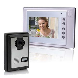 Kit d'interphone d'interphone de téléphone portes vidéo de pouce 1-caméra 1-moniteur Téléphones de vision nocturne