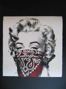 Mr. Brainwash Stay Safe Marilyn Monroe Red Oil Painting Home Wall Decor high quality Handpainted or HD Print Art on Canvas Pictures , F210331