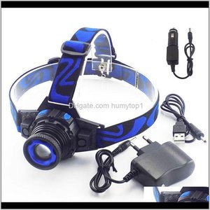 Headlamps Powerful Q5 Frontal Led Headlamp Headlight Rechargeable Linternas Torch Head Lamp Buildin Battery Charger L8P8L Cxopo
