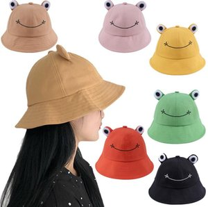 Women Fashion Frog Bucket Summer Hat Female Parent-Child Fishing Cap Korean Wild Cute Sun Hats Big Eyes