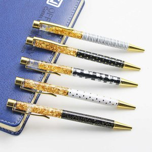 5pcs Set Gold Ballpoint Pen 1.0mm Nib High Quality Luxury Crystal Oil for Writing School Office Supplies Gifts Caneta
