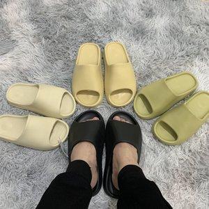 2021 Summer Earth Brown Slide Bone Resin Sand Mens Sandals Black White Slippers Foam Rnnr Desert Flip Flop Women Casual Sandal FW6344 FX0494