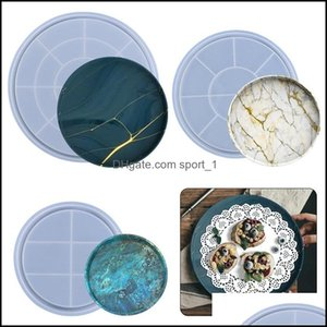 Jewelry Tools & Equipment Jewelryround Molds Fruit Resin Casting Mod Flexible Coaster Epoxy Sile Mold For Making Serving Tray 3 Size Drop De