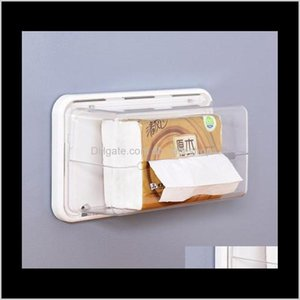 Boxes Napkins Table Decoration Aessories Kitchen, Dining Bar Home & Garden Drop Delivery 2021 Kitchen Magnetic Tissue Box Paper Holder For Re
