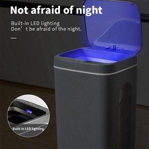 Intelligent Trash Can Automatic Sensor Dustbin Electric Waste Bin Home Rubbish For Bedroom Kitchen Bathroom Garbage 210907