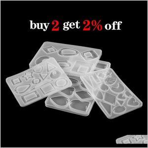 Bead 11Styles Geometric Figure Sile Earrings Epoxy Resin Mold Set Diy Jewelry Handmade Making Finding Tools Supplies 7Ec5Z Euj3Z