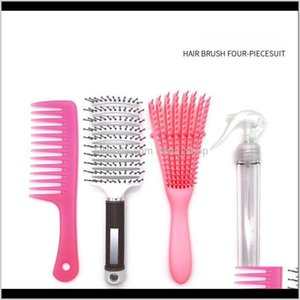 Sets Kits Care & Styling Products Drop Delivery 2021 Dhgate Explosion Bipya Set 4 Pieces Of Width Big Bend Comb Hair Cans Professional Tools