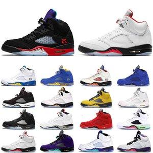 5 S Erkek Basketbol Ayakkabı 5 Yangın Kırmızı Top 3 Laney Çöl Camo Taze Prens Olimpiyat Beyaz Çimento Erkekler Spor Sneaker
