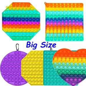 Büyük boy 20 cm pop itme kabarcık fidget oyuncaklar otizm inebilir Squishy Stres Rahatlatıcı Oyuncaklar Yetişkin Çocuk Komik Anti-stres Pop It Fidget Reliver FY2662