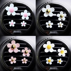 Interior Decorations 4 Air Conditioning Pieces Ventilation Outlet Car Perfume Clip Small Daisy Decoration Fresheners