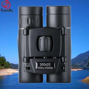 Mini Portable Zoom HD 5000M Telescope Binoculars Powerful 300x25 Folding Long-distance Low Light Night Vision Professional