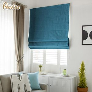 Blinds Modern Cotton Linen Farbic Customized Roman Shades For Living Room Window Curtains