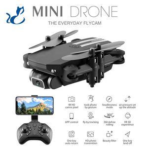 LSRC 4K WiFi FPV складной мини-начинающий дрон малыш игрушка, симуляторы, сфотографировать фото, траектория, фильтр красоты, высота удержания, 360 ° Flip, 3-1