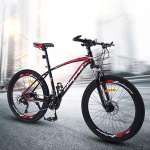 산악 자전거 26 인치 가변 속도 더블 디스크 브레이크 남자와 여자 학생 남성 도로 자전거 자전거 자전거